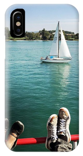 Transportation iPhone Case - Relaxing Summer Boat Trip by Matthias Hauser
