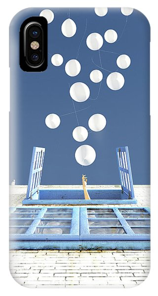Blue And White iPhone Case - Release by Cynthia Decker