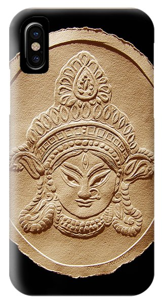 Relief Drawing Of Goddess Durga Devi  IPhone Case