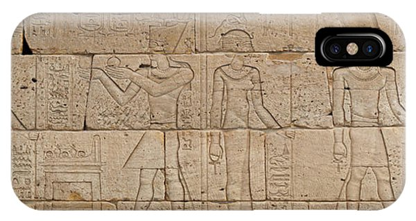 Pharaoh iPhone Case - Relief From The Temple Of Dendur by Egyptian School