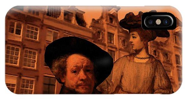 Rembrandt Study In Orange IPhone Case