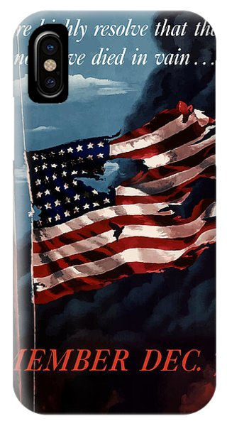 American Flag iPhone Case - Remember December Seventh by War Is Hell Store