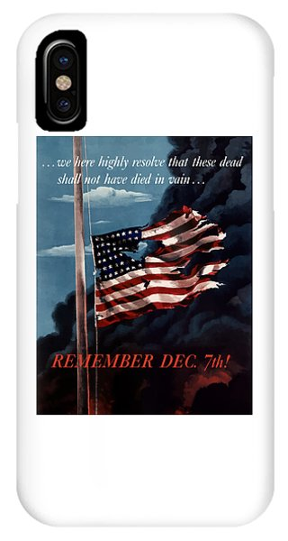 Political iPhone Case - Remember December Seventh by War Is Hell Store
