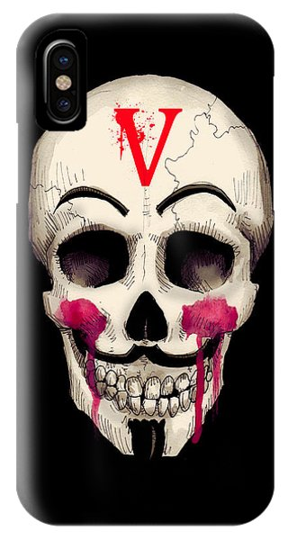 Skull iPhone Case - Remember, Remember Art Print by Ludwig Van Bacon