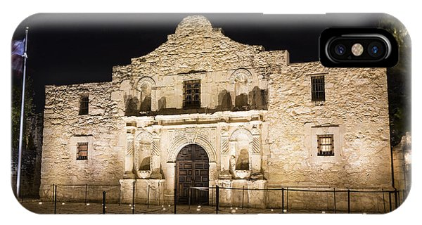 Chapel iPhone Case - Remembering The Alamo by Stephen Stookey