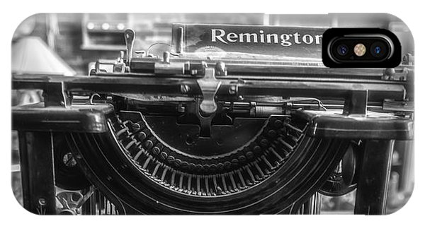 IPhone Case featuring the photograph Remington Standard Typewriter No. 10 by Bitter Buffalo Photography