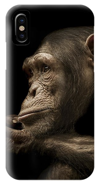 Chimpanzee iPhone Case - Reminisce by Paul Neville