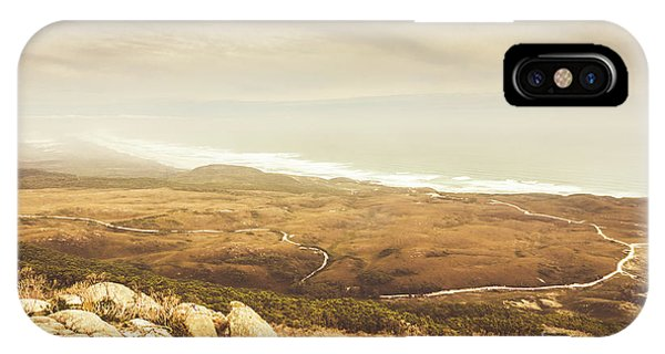 Stone Wall iPhone Case - Remote Roads And Foggy Coastlines by Jorgo Photography - Wall Art Gallery