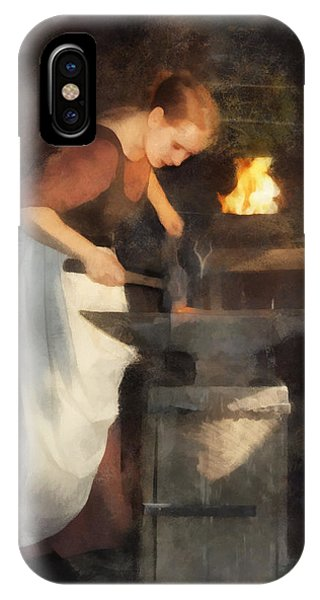 Renaissance Lady Blacksmith IPhone Case