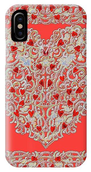 Renaissance Style Heart IPhone Case