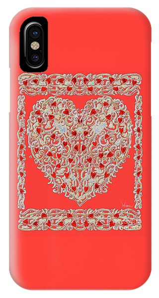 Renaissance Style Heart IPhone Case