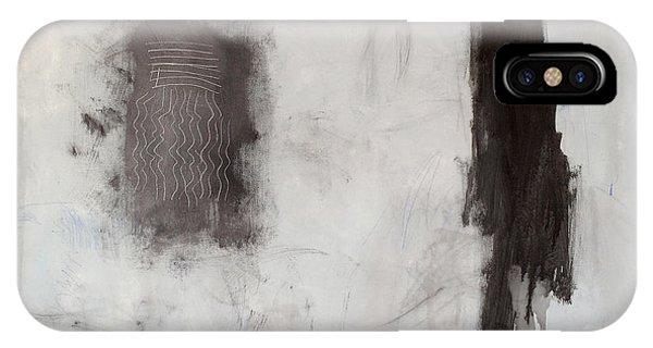 IPhone Case featuring the mixed media Rencontre Avec L'infini by Diane Desrochers