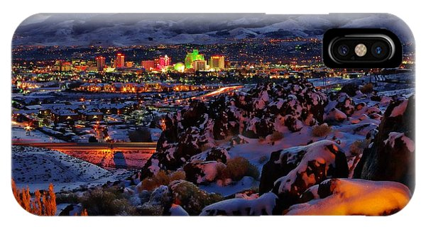 Reno Clearing Snowfall IPhone Case