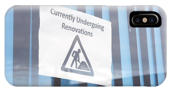Small Business iPhone Case - Renovation Notice by Tom Gowanlock