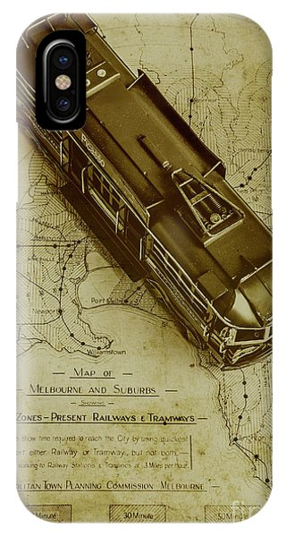 Commute iPhone Case - Replicating Past Tram Transit by Jorgo Photography - Wall Art Gallery