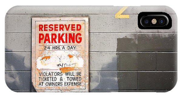 Urban Decay iPhone Case - Reserved Parking by Todd Klassy