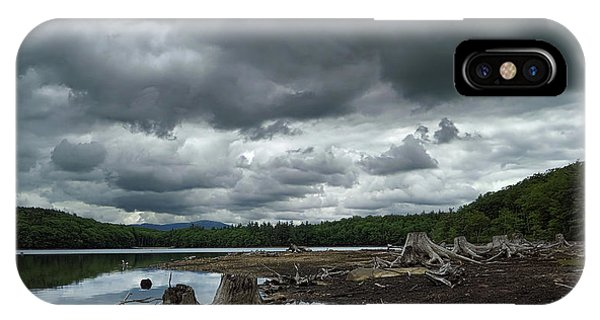 New Hampshire iPhone Case - Reservoir Logs by Jerry LoFaro