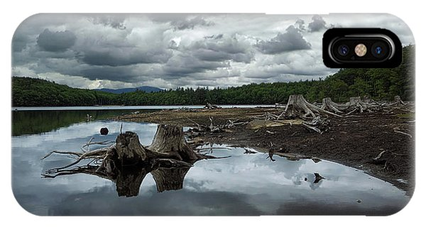 Water iPhone Case - Reservoir Logs by Jerry LoFaro