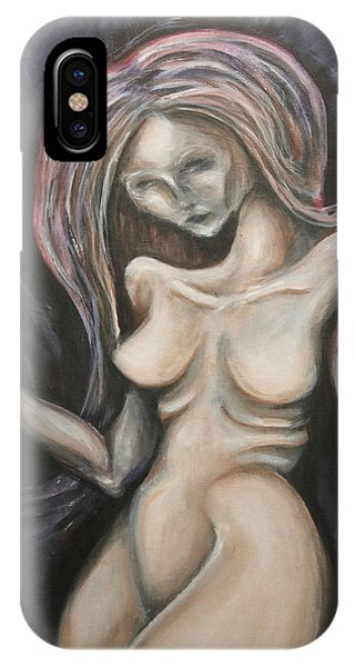 IPhone Case featuring the painting Residual Image by Keith A Link