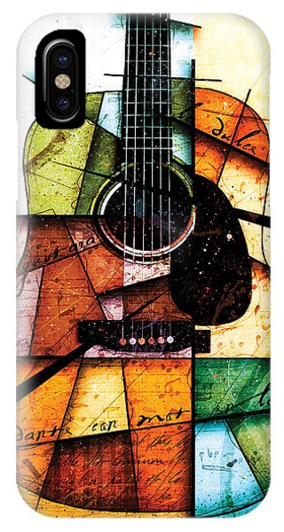 Guitar iPhone Case - Resonancia En Colores by Gary Bodnar