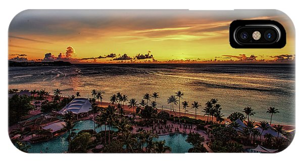 IPhone Case featuring the photograph Resort Sunset by Ray Shiu