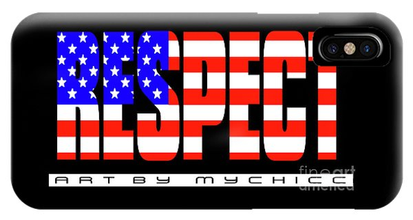 4th July iPhone Case - Respect For The American Flag by Art by MyChicC