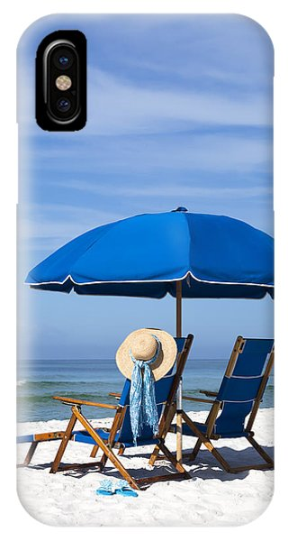 Beach Chair iPhone Case - Rest And Relaxation by Janet Fikar