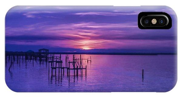 Rest Well World Purple Sunset IPhone Case
