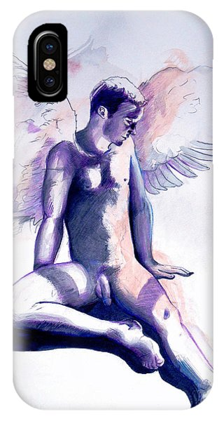 IPhone Case featuring the painting Resting Angel by Rene Capone