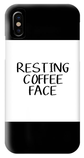 Resting Coffee Face-art By Linda Woods IPhone Case
