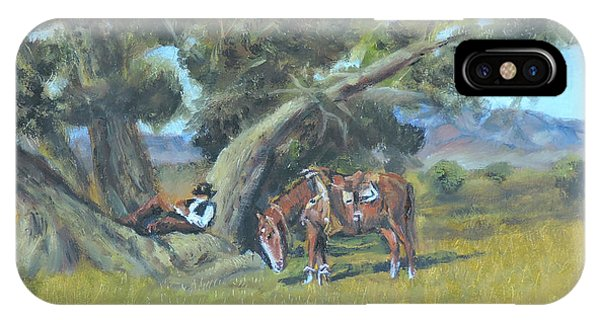 Resting Cowboy Painting A Study IPhone Case