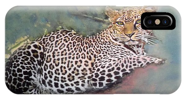 Resting Leopard IPhone Case