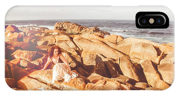 Pose iPhone Case - Resting On A Cliff Near The Ocean by Jorgo Photography - Wall Art Gallery
