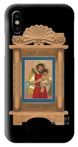 IPhone Case featuring the painting Retablo De San Jose Obrero by William Hart McNichols