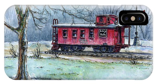 Retired Red Caboose IPhone Case