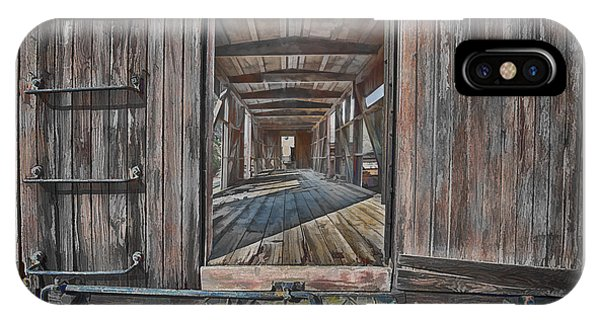 Retired Train Car Jamestown IPhone Case