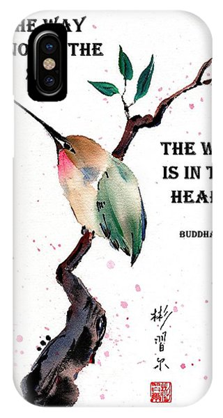 Retreat With Buddha Quote IPhone Case