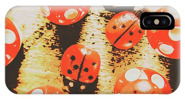 Ladybug iPhone Case - Retro Art Bug by Jorgo Photography - Wall Art Gallery