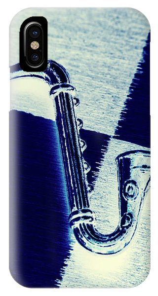 Saxophone iPhone Case - Retro Blues by Jorgo Photography - Wall Art Gallery