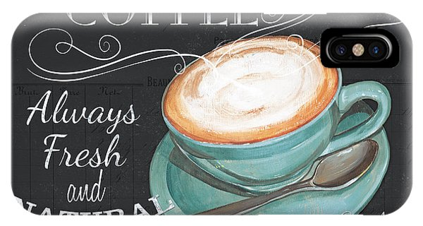 Cafe iPhone Case - Retro Coffee 1 by Debbie DeWitt