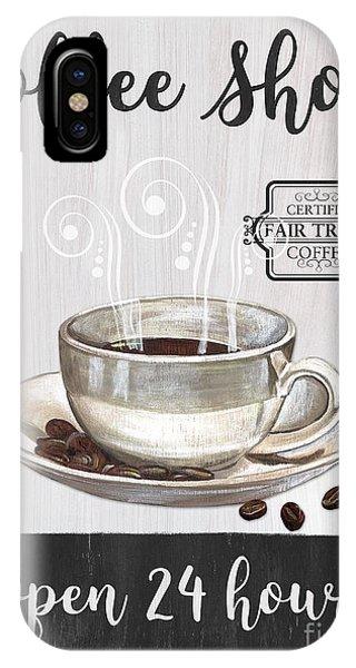 Relaxation iPhone Case - Retro Coffee Shop 1 by Debbie DeWitt
