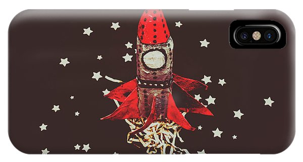 Discovery iPhone Case - Retro Cosmic Adventure by Jorgo Photography - Wall Art Gallery