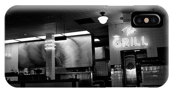 Retro Diner In Athens, Georgia -black And White IPhone Case
