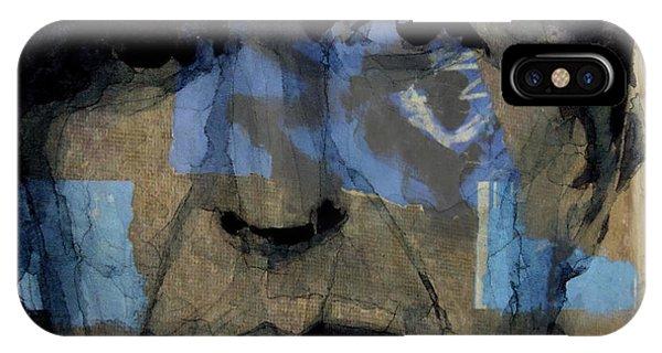 Singer iPhone Case - Retro- Famous Blue Raincoat  by Paul Lovering