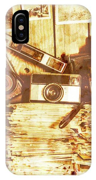 Cameras iPhone Case - Retro Film Cameras by Jorgo Photography - Wall Art Gallery