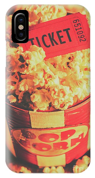 Retro Film Stub And Movie Popcorn IPhone Case