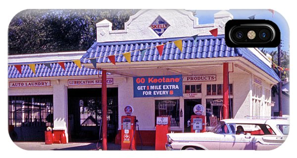 Gas Station iPhone Case - Retro Gas Station by Laura D Young