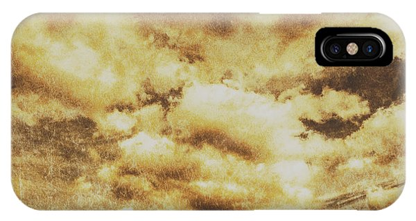 Skyscape iPhone Case - Retro Grunge Cloudy Sky Background by Jorgo Photography - Wall Art Gallery