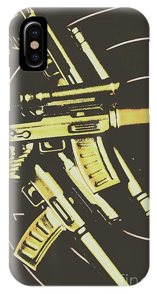 Shooting iPhone Case - Retro Guns And Targets by Jorgo Photography - Wall Art Gallery