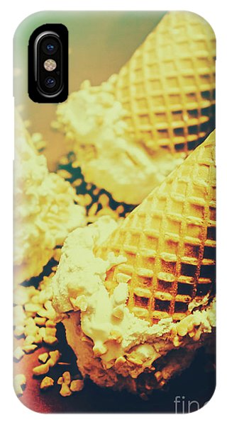 Ice iPhone Case - Retro Ice Cream Artwork by Jorgo Photography - Wall Art Gallery